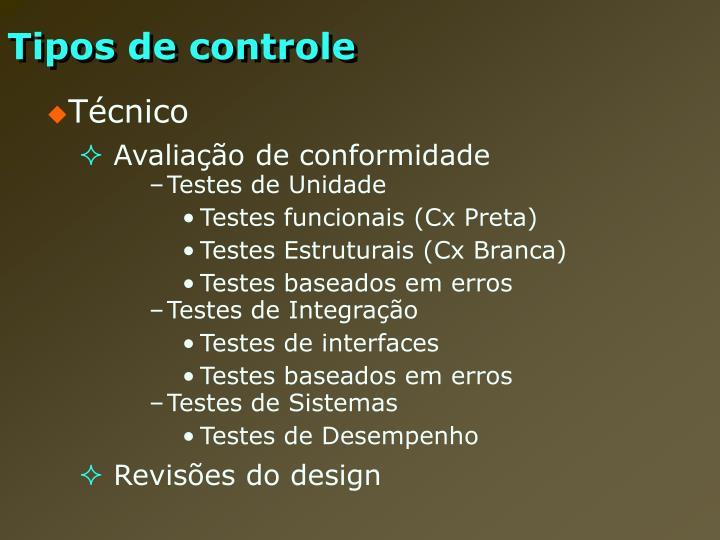 Tipos de controle