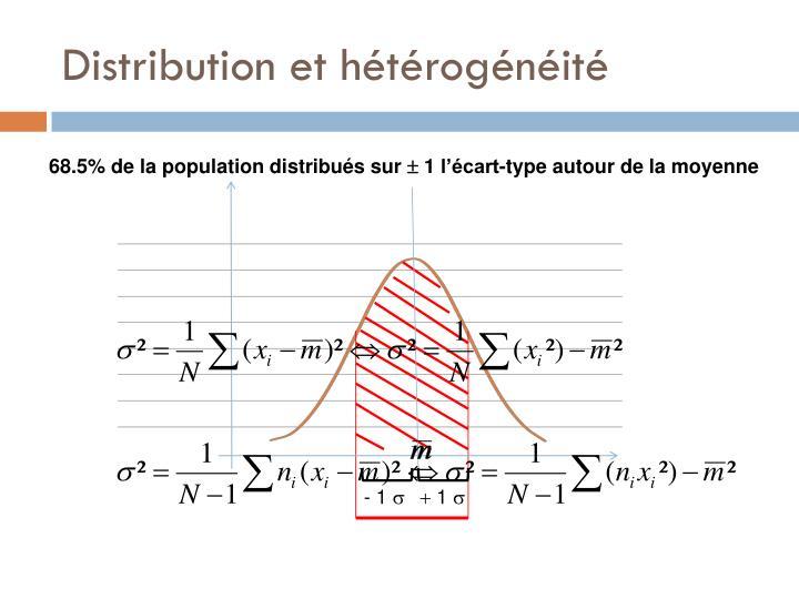 Distribution et hétérogénéité
