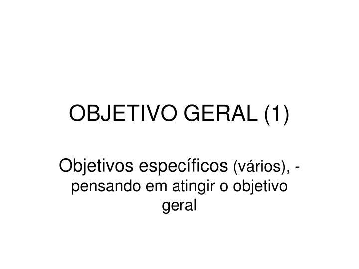 OBJETIVO GERAL (1)