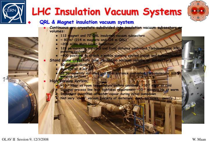Lhc insulation vacuum systems