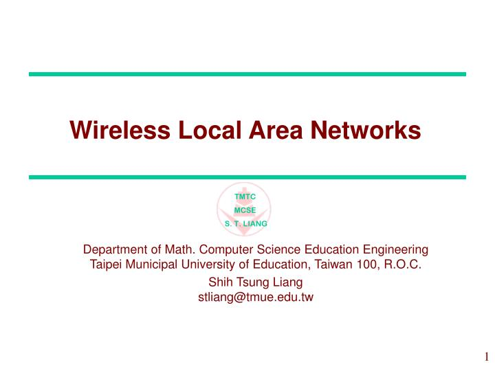 wireless local area networks n.