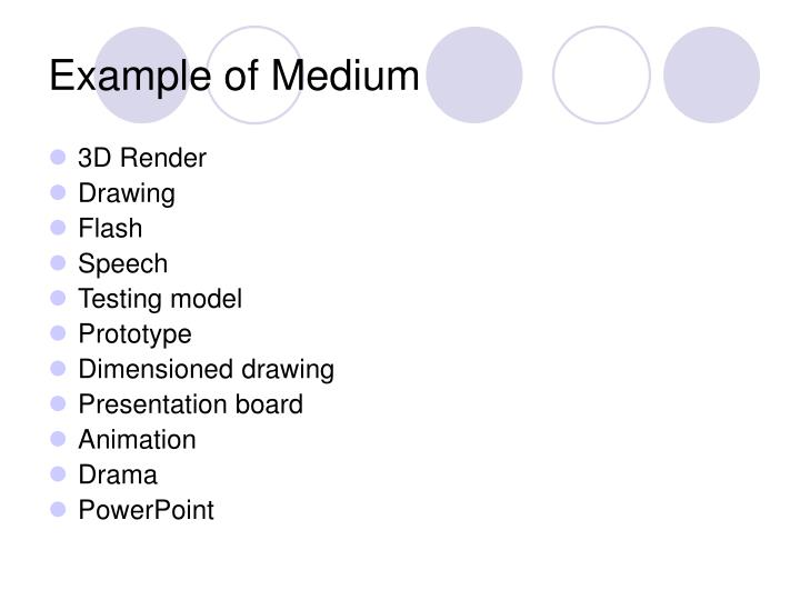 Example of Medium