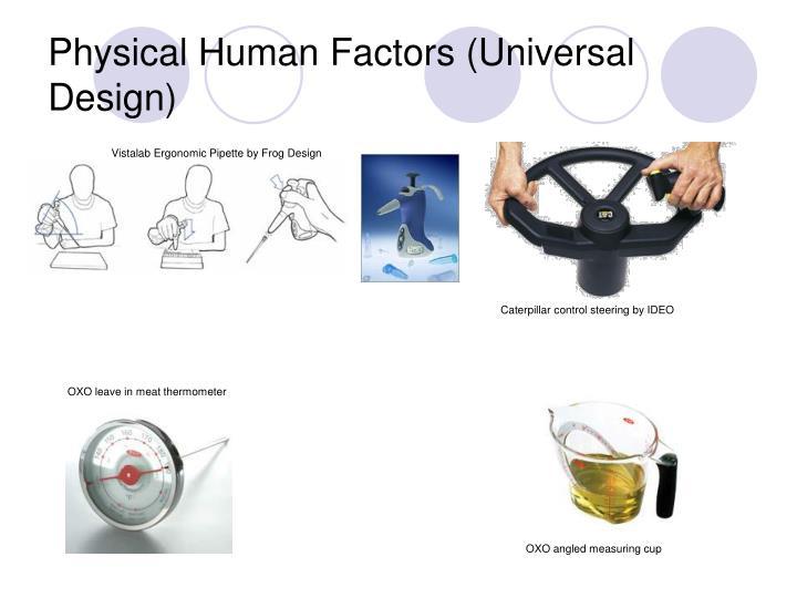 Physical Human Factors (Universal Design)