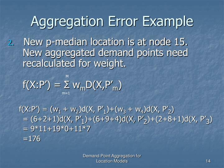 Aggregation Error Example