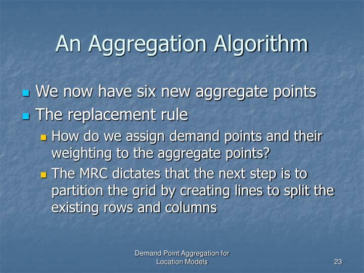 An Aggregation Algorithm