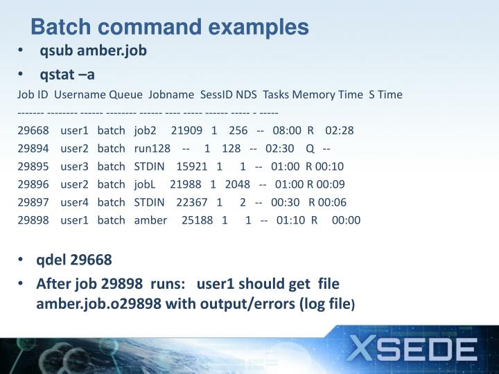 Batch command examples