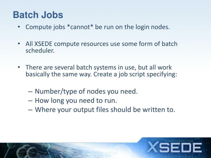 Batch Jobs