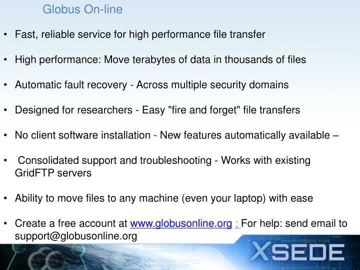 Globus On-line
