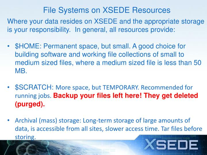 File Systems on XSEDE Resources