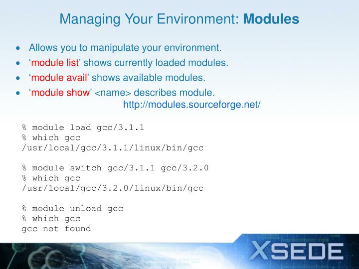 Managing Your Environment: