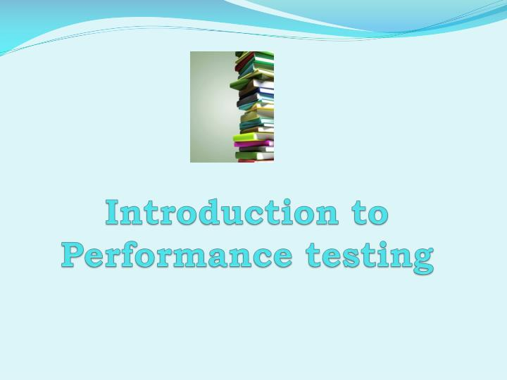 introduction to performance testing n.