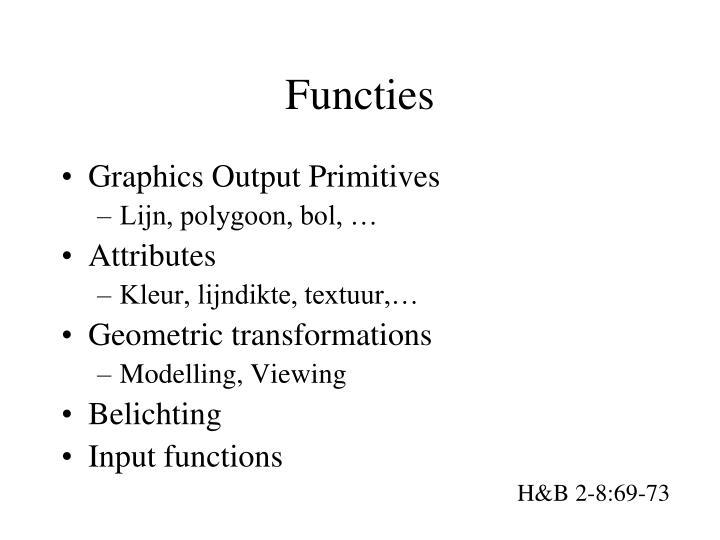 Functies