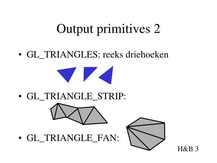 Output primitives 2