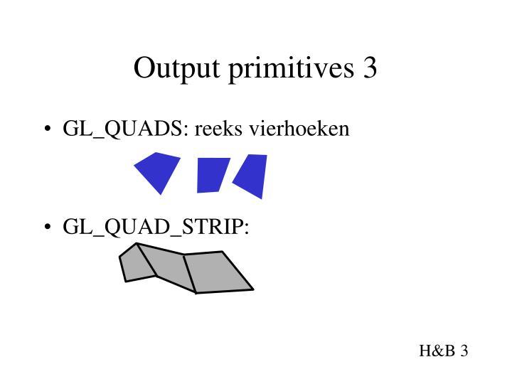 Output primitives 3