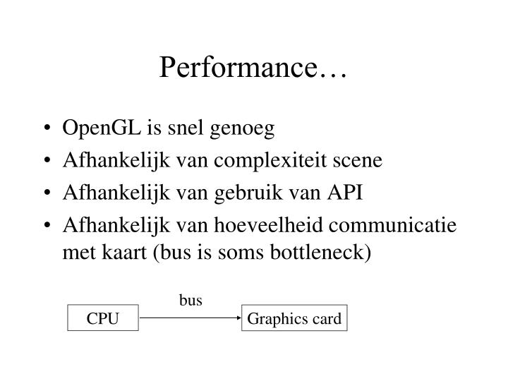 Performance…