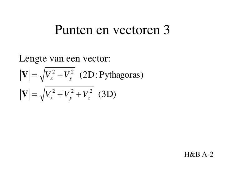 Punten en vectoren 3