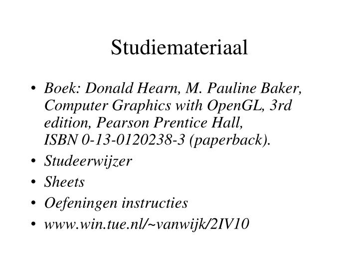 Studiemateriaal