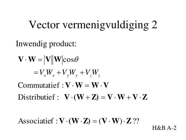 Vector vermenigvuldiging 2