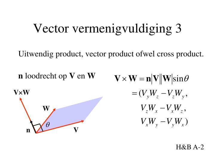 Vector vermenigvuldiging 3