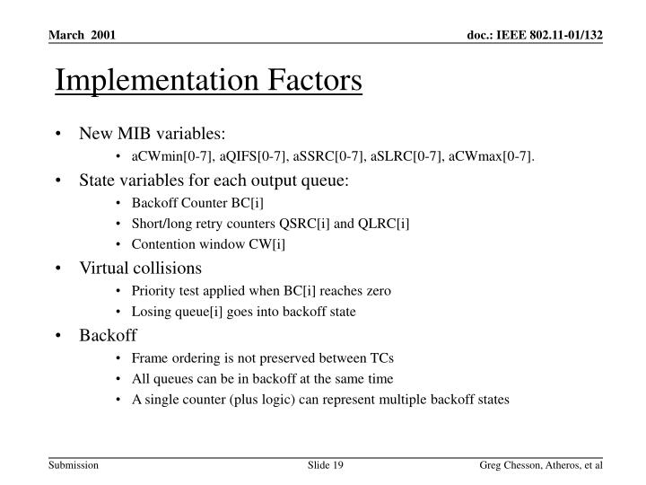 Implementation Factors