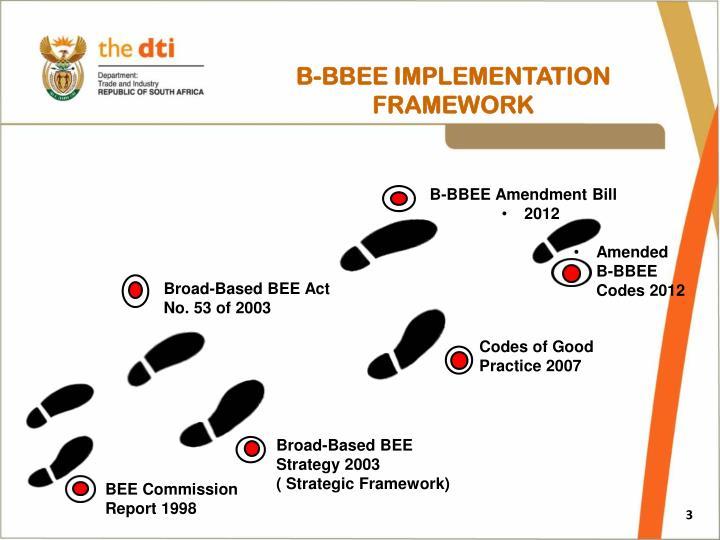 B bbee implementation framework