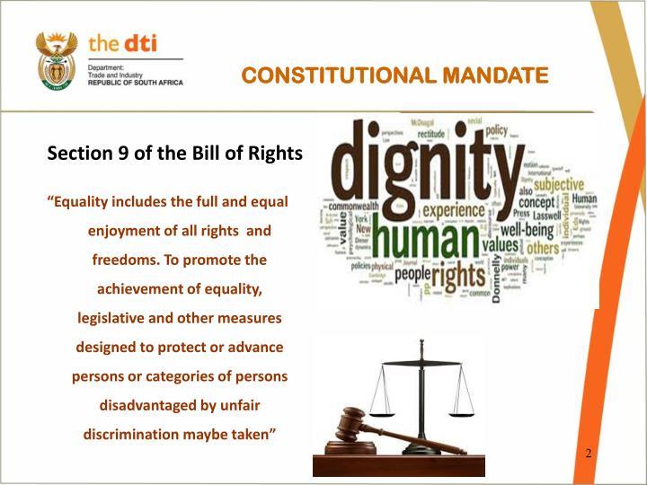 CONSTITUTIONAL MANDATE