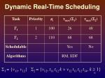 dynamic real time scheduling1