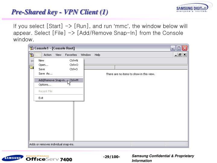Pre-Shared key - VPN Client (1)