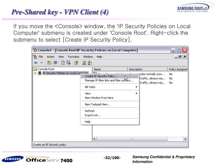Pre-Shared key - VPN Client (4)