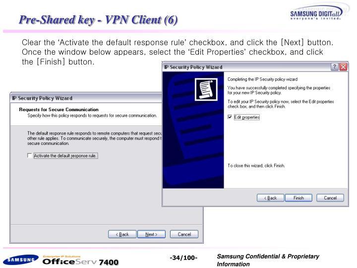 Pre-Shared key - VPN Client (6)