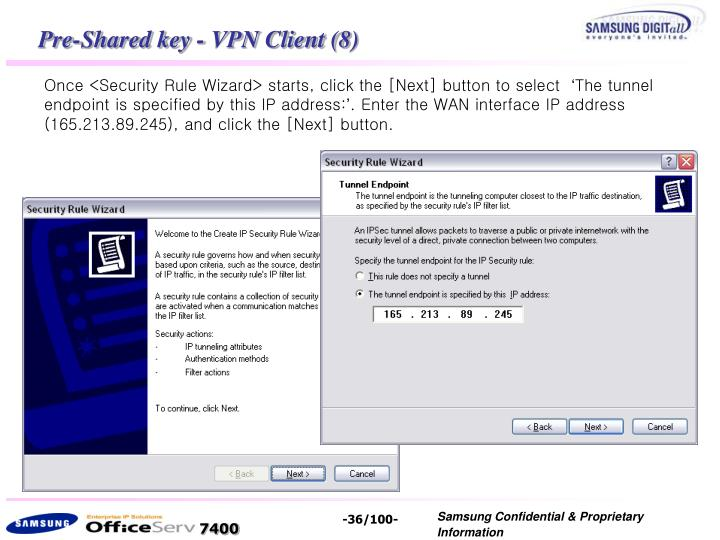 Pre-Shared key - VPN Client (8)