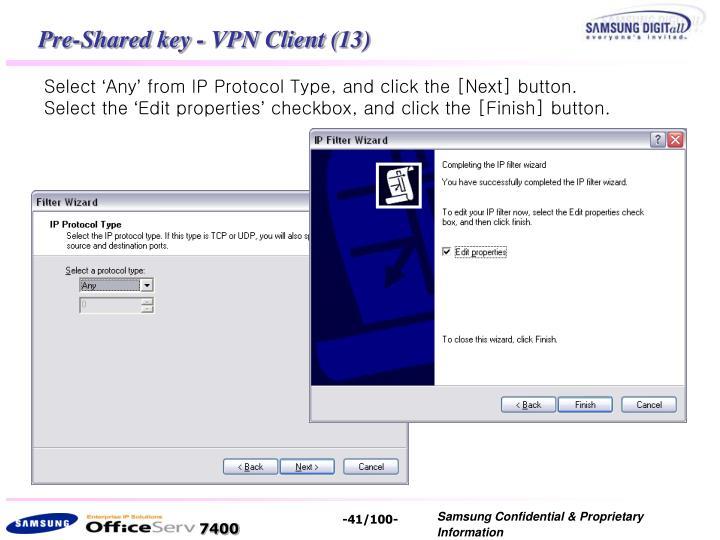 Pre-Shared key - VPN Client (13)