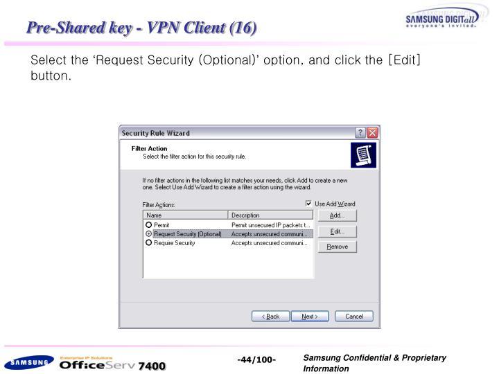 Pre-Shared key - VPN Client (16)