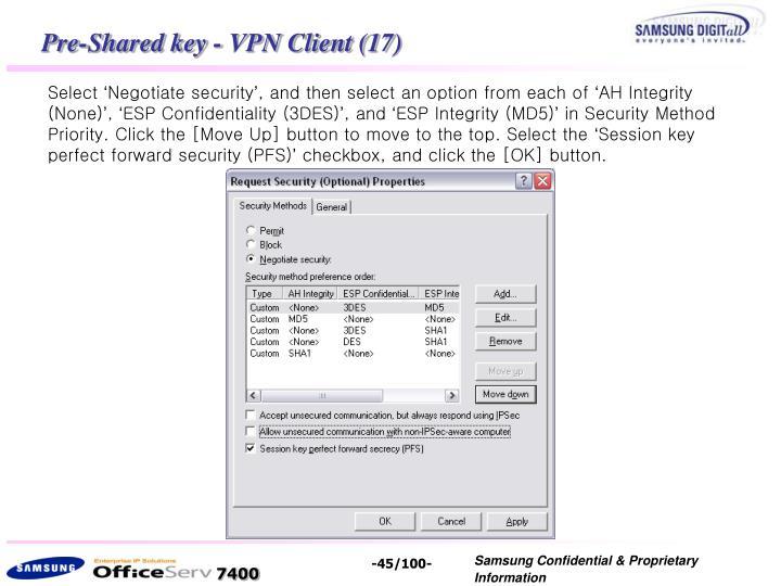 Pre-Shared key - VPN Client (17)