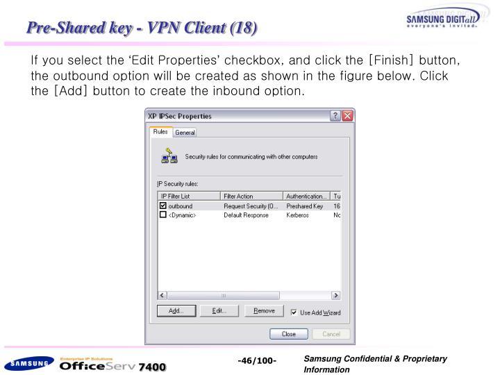 Pre-Shared key - VPN Client (18)