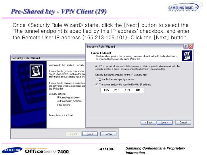 Pre-Shared key - VPN Client (19)