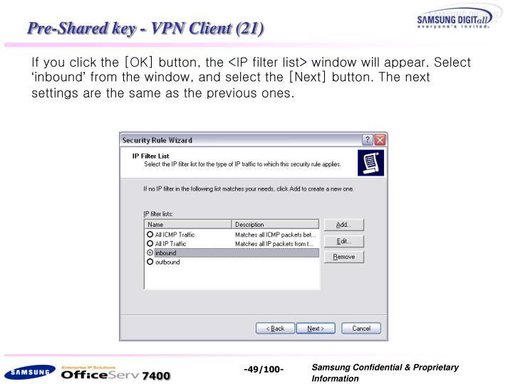 Pre-Shared key - VPN Client (21)