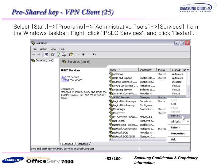 Pre-Shared key - VPN Client (25)