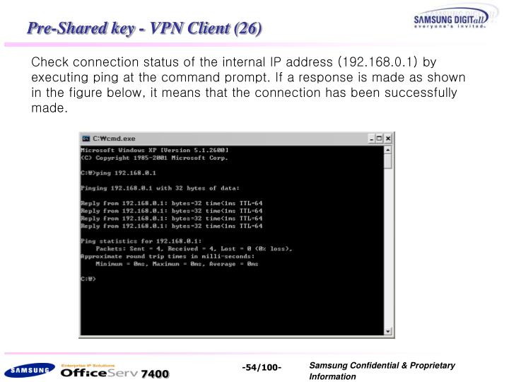Pre-Shared key - VPN Client (26)