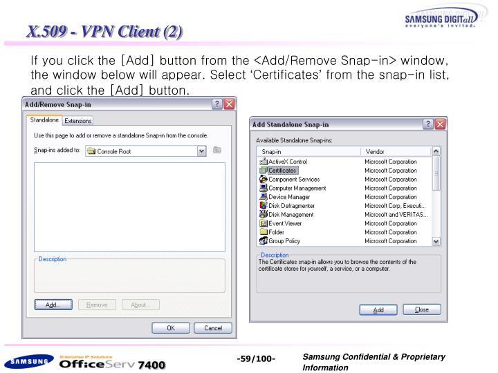 X.509 - VPN Client (2)