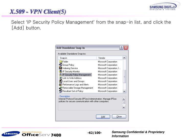 X.509 - VPN Client(5)