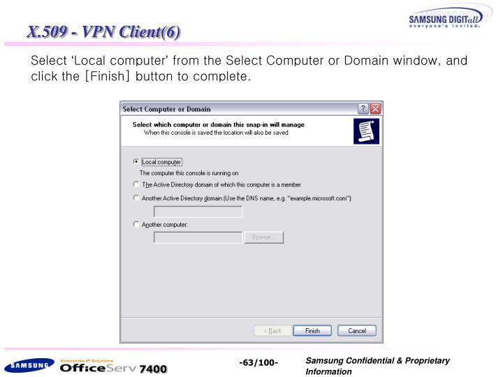 X.509 - VPN Client(6)
