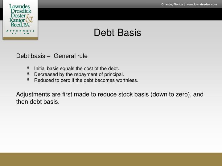 Debt Basis