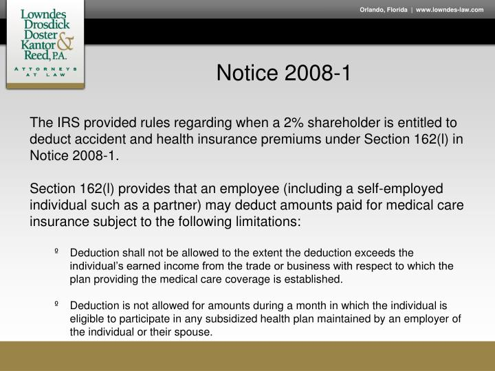 Notice 2008-1