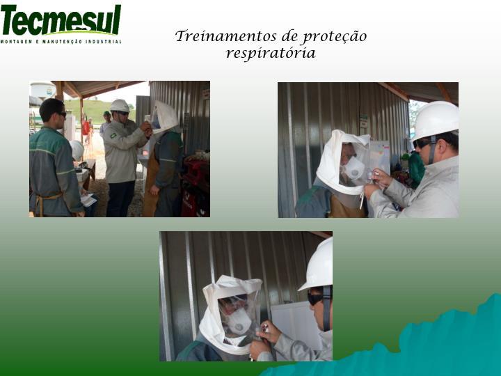 Treinamentos de proteção respiratória