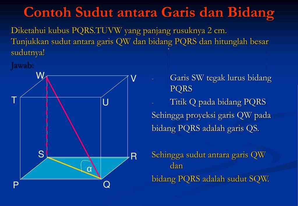 PPT - INDIKATOR: 1. Menggambar dan menentukan proyeksi ...