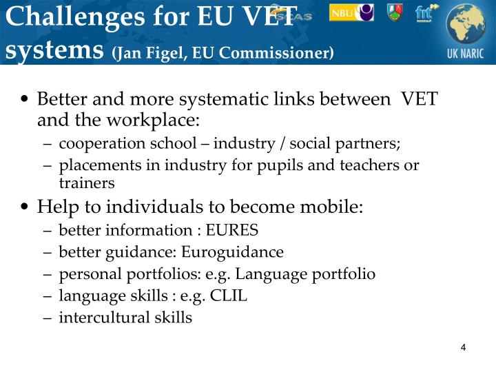 Challenges for EU VET systems