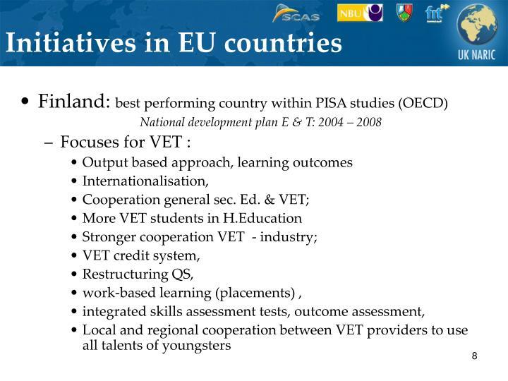 Initiatives in EU countries