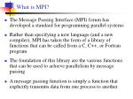 what is mpi