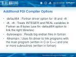 additional pgi compiler options